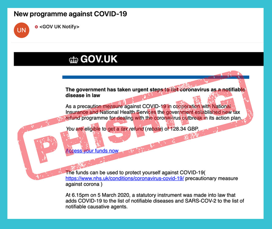 Covid-19 Phisling Scam